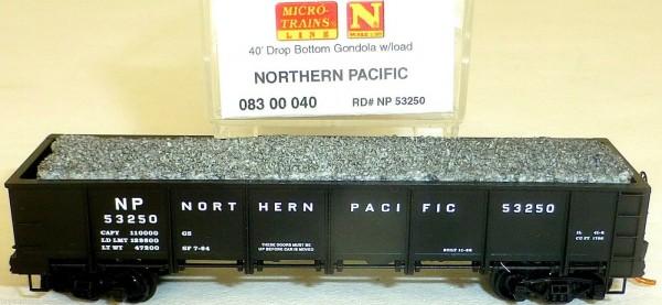 Northern Pacific 40 Drop Bottom Gondola Micro Trains 083 00 040 1:160 OVP HS3 å*