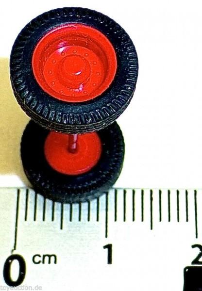 100 x Radsatz 28mm Achsbreite rot Felge Plastik Herpa Albedo 1:87 R116 å *