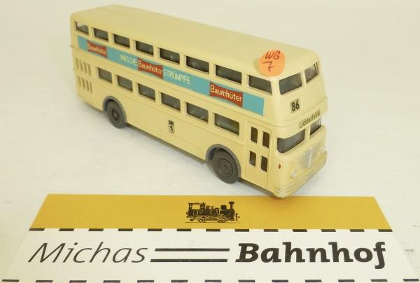 86 Baumhüter Kleinserie Werbebus D2U Tür zu aus Wiking H0 1:87 WB7 GD4 å