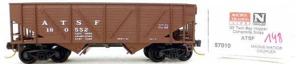 Micro Trains Line 57010 ATSF 180552 33' Twin Bay Hopper 1:160 OVP #i148 å
