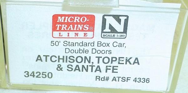 Micro-Trains Line 34250 Atchison Topeka SF 50' Standard Box Car N 1:160 A å *