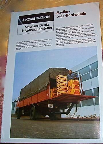 Magirus Deutz + Aufbauhersteller Meiller-Lade-Bordwände