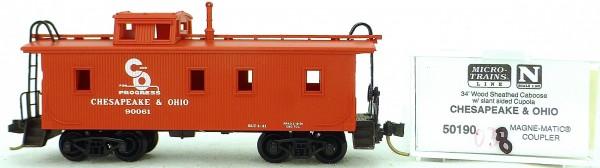 Micro Trains Line 50190 Chesapeake Ohio 90061 34' CABOOSE 1:160 OVP #K038 å