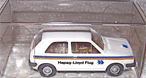 VW Golf HAPAG LLOYD FLUG Werbemodell WIKING 1:87 å