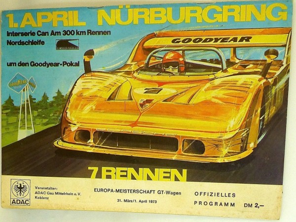 1.April Interserie Can Am 300 km Rennen EURO Nürburgring PROGRAMMHEFT VIII07 å *