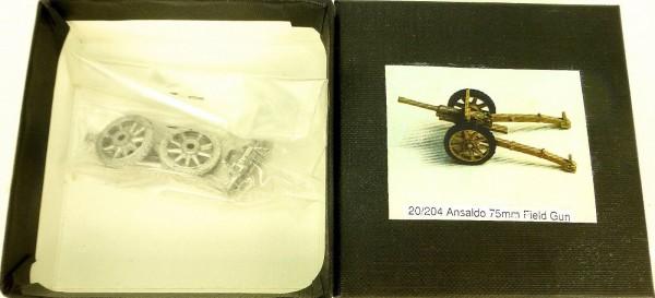 Ansaldo 75mm Field Gun 20/204 Bausatz ungebaut Metall H0 1:87 å *