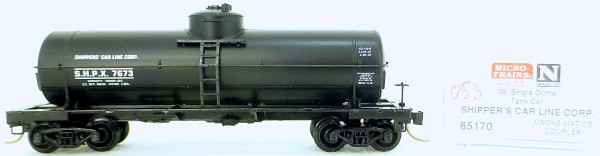 Micro Trains Line 65170 Shipper's 7673 39' Single Dome Tank Car 1:160 OVP #i053 å