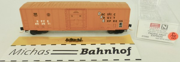 Pacific Fruit Ex 50' Rib Side Boxcar 453571 Micro Trains Line 27090 1:160 P28 å