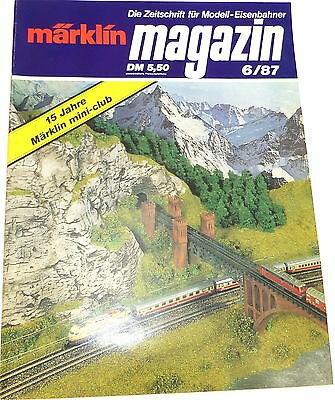 15 Jahre mini-club MÄRKLIN magazin 6/87