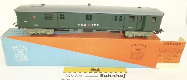 Post Gepäckwagen Bagagliaio Postale Svizzero POCHER 212 H0 1:87 OVP HS2 å *