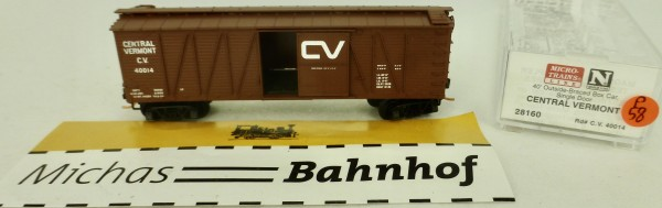 Central Vermont 40' Outside Braced Box Car Micro Trains Line 28160 1:160 P58 å