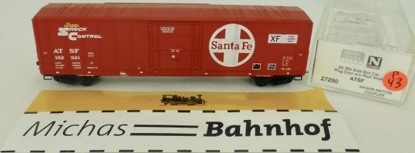 ATSF 50' Rib Side Boxcar 152321 Micro Trains Line 27250 1:160 P43 å