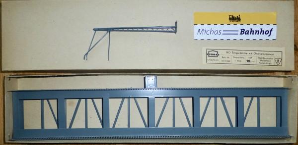 H0 Trägerbrücke mit Oberleitungsmast Metall PGH Eisenbahnmodellbau 16/7/360 H0 å