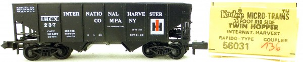 Micro Trains Line 56031 Int Harvester 237 33' Twin Hopper OVP 1:160 #K136 å