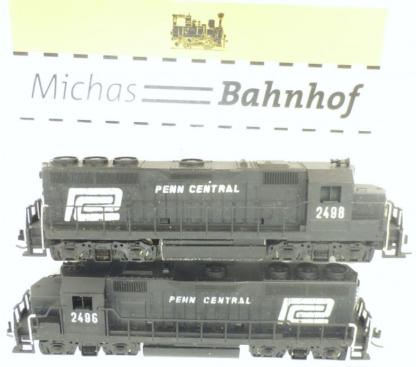 NYC Freight Train Penn Central 2x GP40 Mehano N 1:160 #