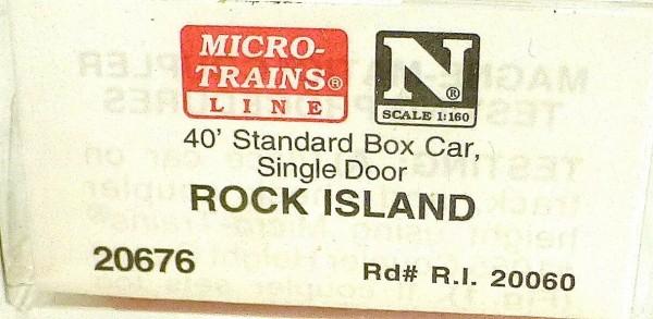40´ St Boxcar Rock Island 20060 Micro Trains Line 20676 1:160 D å *