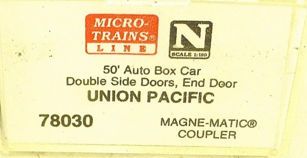 Micro Trains Line 78030 Union Pacific 161100 50´ Box Car 1:160 OVP #E å *