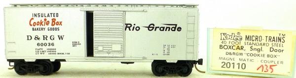 Micro Trains Line 20110 D&RG Cookie Box 60036 40' St. Boxcar 1:160 OVP #H135 å