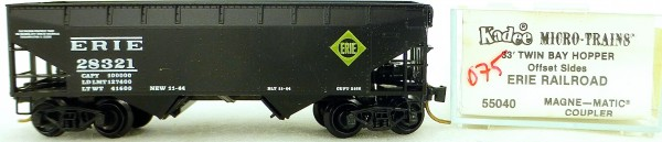 Micro Trains Line 55040 Erie Railroad 28321 33' Twin Bay Hopper OVP 1:160 #K075 å