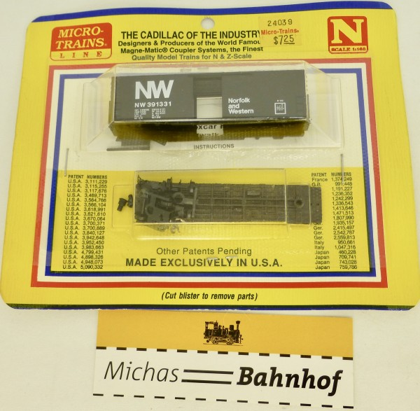 BLISTER KIT Norfolk and Western 391331 Boxcar Micro Trains 24039 OVP 1:160 å