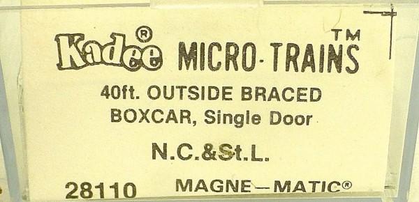 40´ Outside Braced Boxcar N.C.&St.L. 15994 Micro Trains Line 28110 N 1:160 C å*
