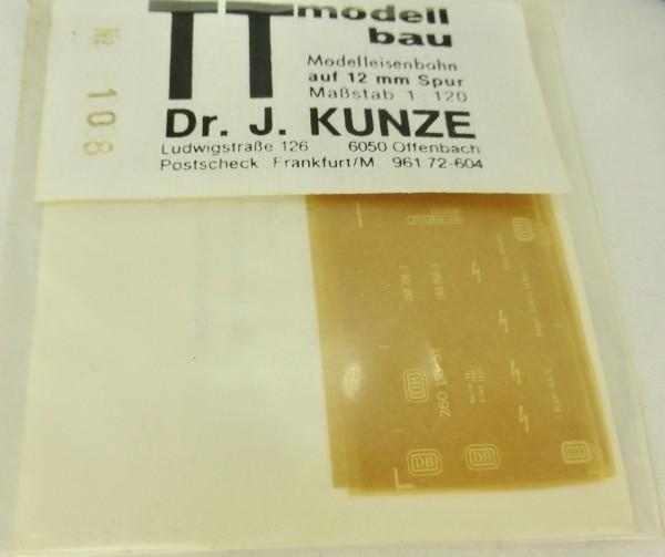 DB 260 118-5 Beschriftung Dr. J. Kunze 108 TT 1:120 OVP å