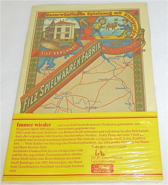 """Reproduktion des ersten Steiff-Kataloges von 1892 - """"Händler Dankeschön"""" # å"""