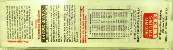 Micro-Trains Line 94020 3-Bay Center Flow GENERAL CHEMICAL N 1:160 X å*
