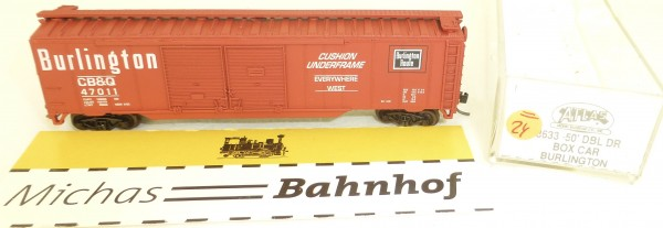 Burlington CB&Q 47011 50' Stock Car Atlas 3633 N 1:160 #=24 å