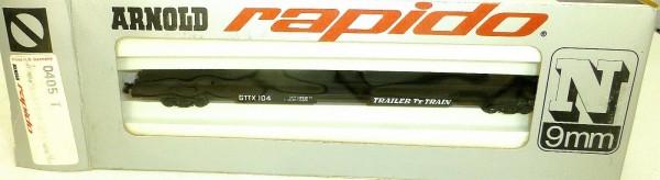 Trailer Train TT GTTX 104 Tiefladewagen ARNOLD rapido 0405T N 1:160 OVP HU3 å *