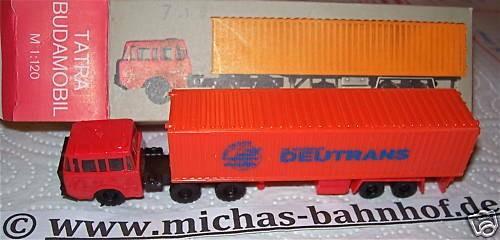 Deutrans TATRA Budamobil Containerauflieger TT 1/120 å