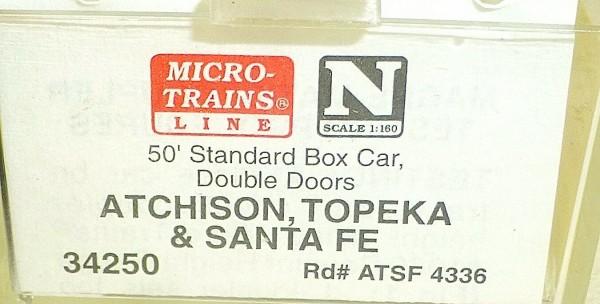 Micro-Trains Line 34250 Atchison Topekeka SF 50' Standard Box Car N 1:160 A å *