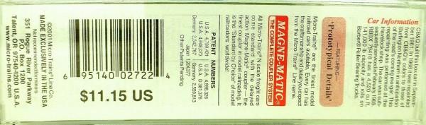 50´ Standard Boxcar BURLINGTON BREX 79418 Micro Trains Line 32090 N 1:160 C å*