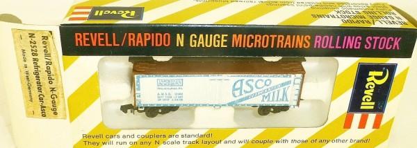 Asco Refrigerator Car Revell rapido microtrains N-2528 OVP HT5 å *
