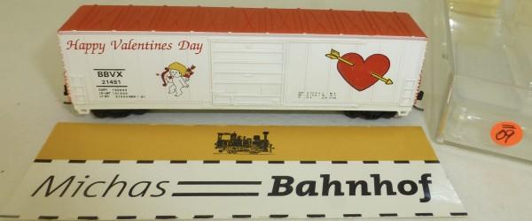 BBVX 21481 Happy Valentines Day 50' S/D Box Life Like N 1:160 #=09 å