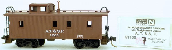 Micro Trains Line 51100 A.T.&S.F. 1203 34' CABOOSE 1:160 OVP #K047 å