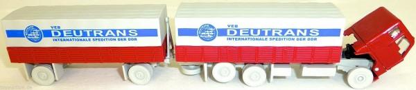 DEUTRANS VEB Spedition DDR F 88 Hängerzug Pritsche Plane H0 1:87 #U'A3 D4 å