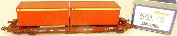 SJ Einheitstaschenwagen 2xPost Container KKK EpV Roco 76753 H0 1:87 NEU KC3 µ *